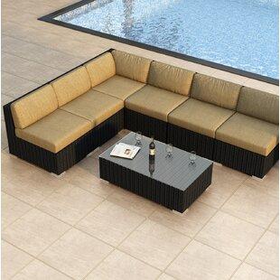 Harmonia Living Urbana 7 Piece Sectional Set with Cushions