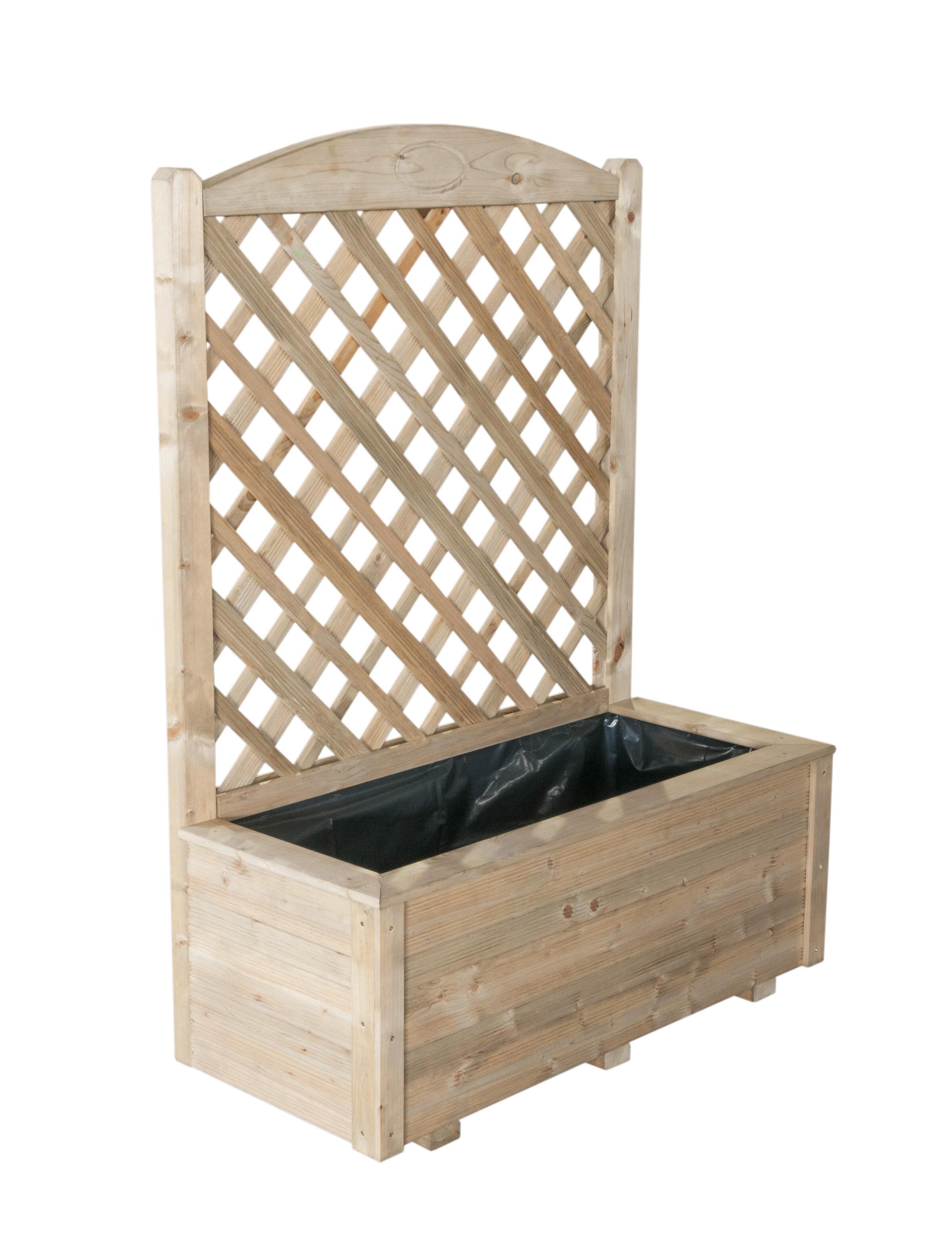Diamond Planter Box With Trellis