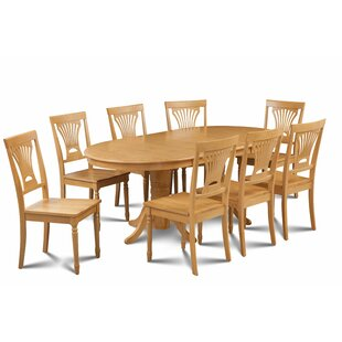 Kelston Mills 9 Piece Extendable Solid Wood Dining Set