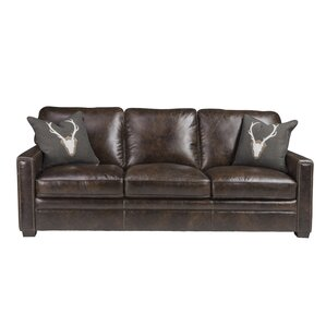 Andersonville Leather Sofa by Foundry Select