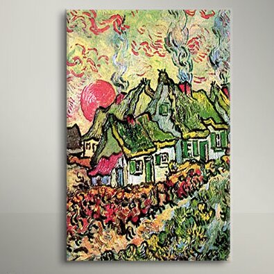 Vault W Artwork Cottages Reminiscent Of North By Vincent Van Gogh Painting Print On Canvas Reviews Wayfair