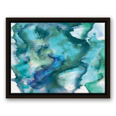 Mercer41 Waves Watercolor Painting Print on Canvas Size 18 H