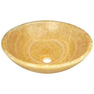 MR Direct Honey Stone Circular Vessel Bathroom Sink