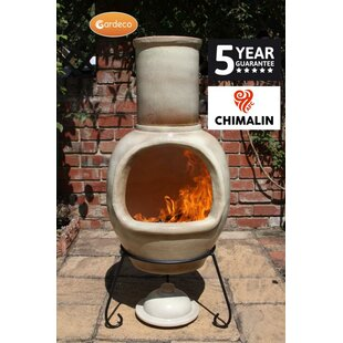 Gardeco Asteria Clay Wood Burning Chiminea