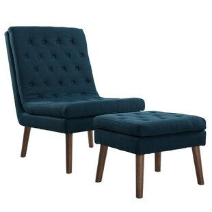 Attleborough Upholstered Lounge Chair and Ottoman