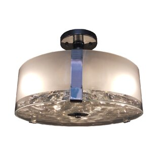 Sabrina 3-Light Semi Flush Mount by Whitfield Lighting