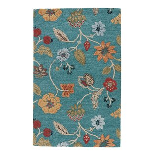 Silver Creek Hand-Woven Blue/Red Area Rug by Alcott Hill