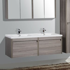 double bathroom sink vanity. Rosas 59  Double Bathroom Vanity Set Modern Vanities AllModern