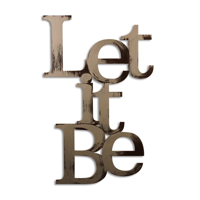 Wayfair Wall Decor letter2word let it be wall décor & reviews | wayfair