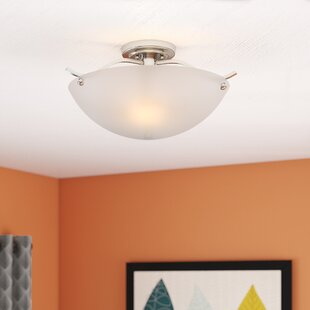 Hawkesbury 2-Light Semi-Flush Mount by Latitude Run