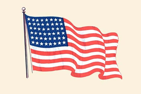 'The American Flag' Graphic Art