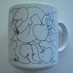 Buell 11 oz. Daytime Elephants Mug