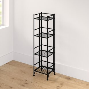 Edwin 4 Tier Folding Etagere Bookcase