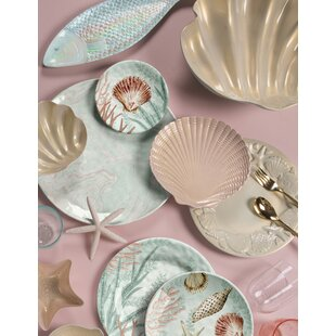 Francisco Coral Reef 12 Piece Melamine Dinnerware Set, Service for 4