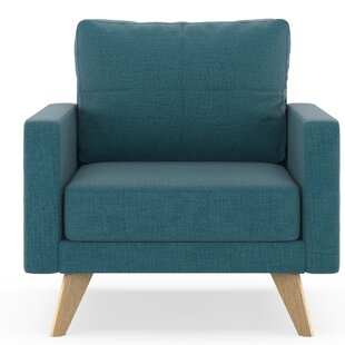 Cowell Oxford Weave Armchair by Corrigan Studio
