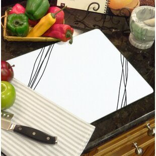 Glass Simple Sketch Counter Saver Cutting Board