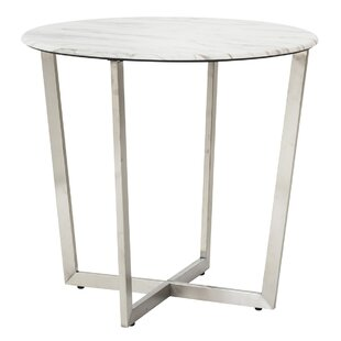 Lifthrasir Cross Legs End Table By Wrought Studio