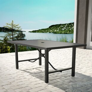Macleod Steel Dining Table By Blue Elephant