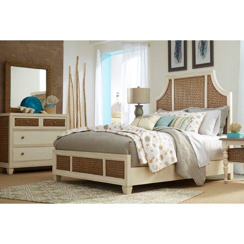 Panama Jack Bridge Hampton Seagrass Panel Configurable Bedroom Set ...