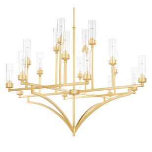 Mercury Row Depaz 18-Light Shaded Chandelier