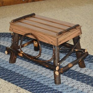Hickory Footstool by A&L Furniture