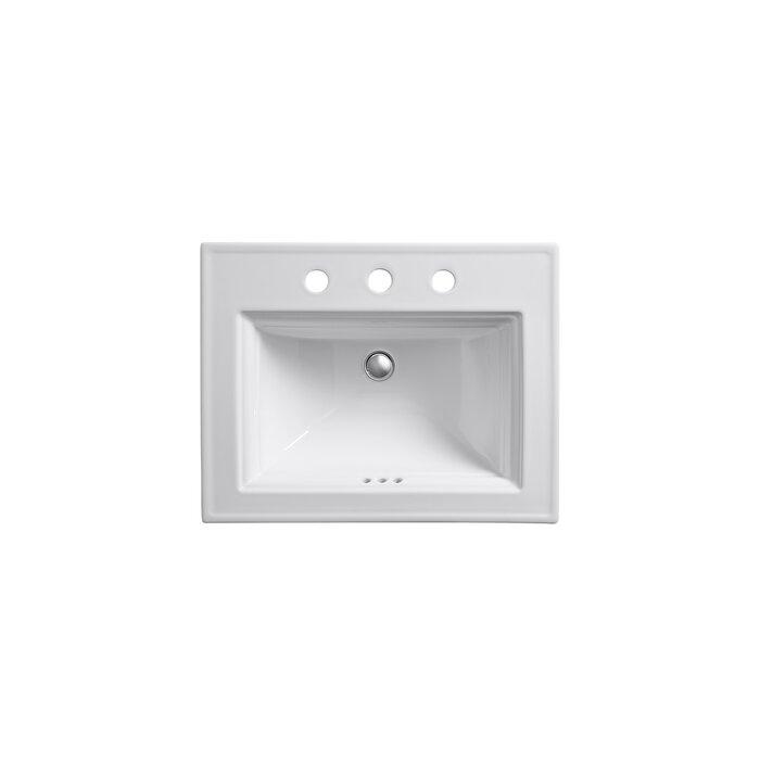 Memoirs® Ceramic Rectangular Drop-In Bathroom Sink with Overflow