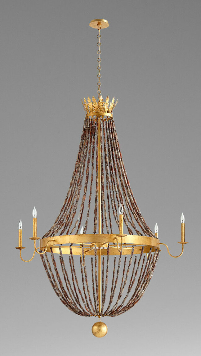 Cyan Design 6 Light Candle Style Empire Chandelier With Beaded Accents Perigold