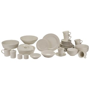 Amos 43 Piece Dinnerware Set, Service for 6