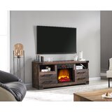 Swindle TV Stand for TVs up to 65 with Electric Fireplace Included by Millwood Pines