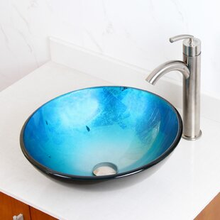 Find the perfect Tempered Glass Circular Vessel Bathroom Sink By Elite
