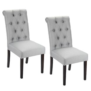 House of Hampton Alarik Button Tufted Upholstered Dining Chair (Set of 2)