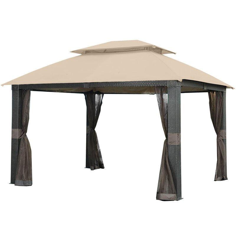 Beige Garden Winds Replacement Canopy Top Cover for Westbrook Gazebo Riplock 350