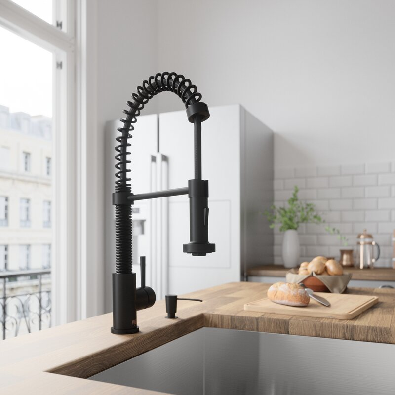 Edison Pull Down Single Handle Kitchen Faucet