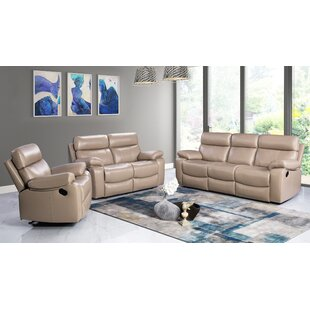 Mellor 3 Piece Leather Living Room Set