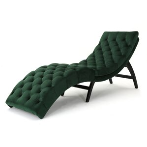 Rojo Chaise Lounge  sc 1 st  Wayfair.com : green velvet chaise lounge - Sectionals, Sofas & Couches