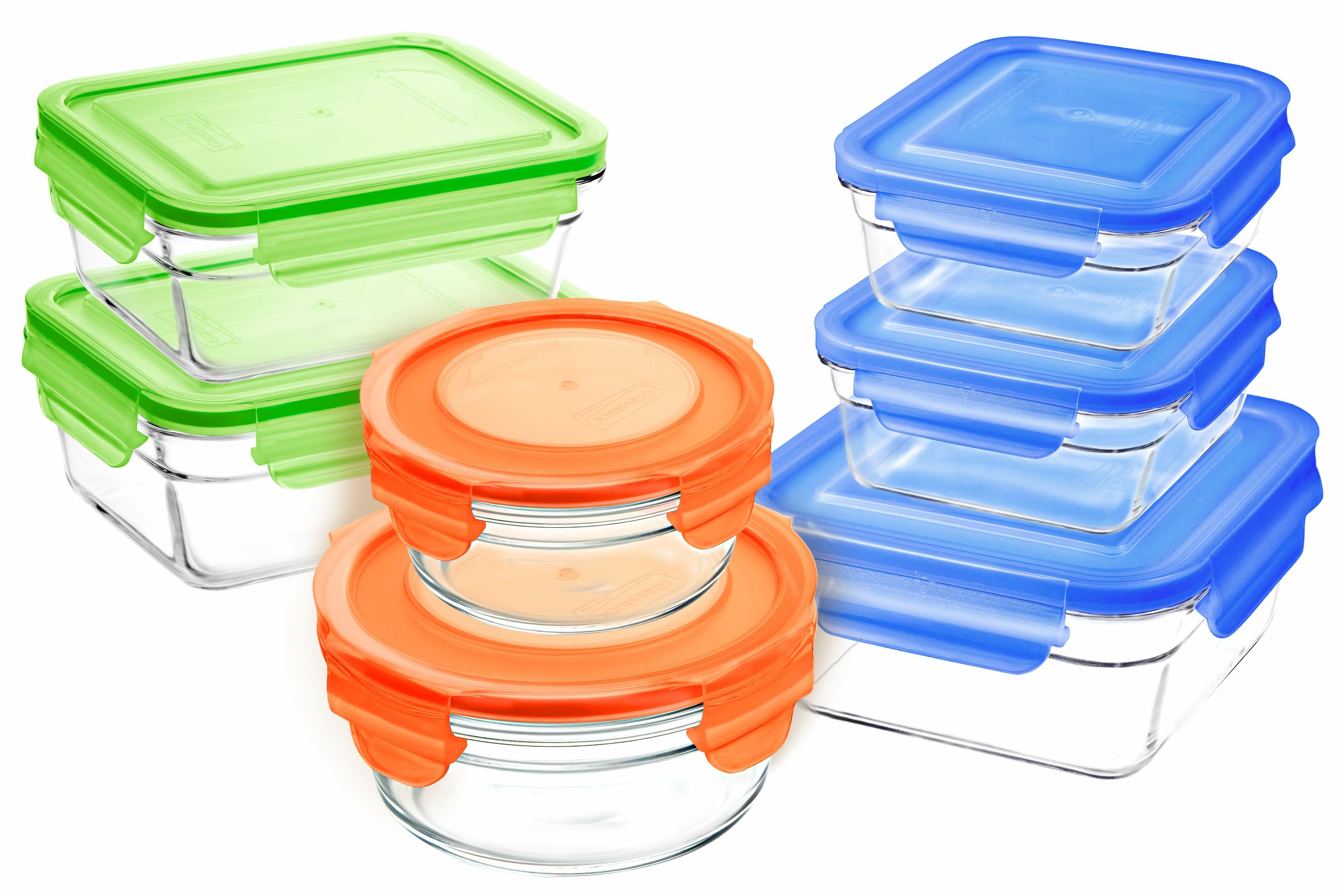 Glasslock 7 Container Food Storage Set Reviews Wayfair