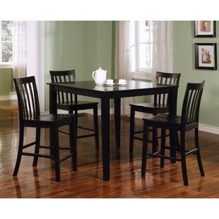 Landover Wooden 5 Piece Counter Height Dining Set
