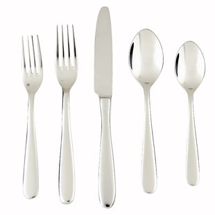 Grand City 5 Piece 18/10 Stainless Steel Flatware Set, Service for 1