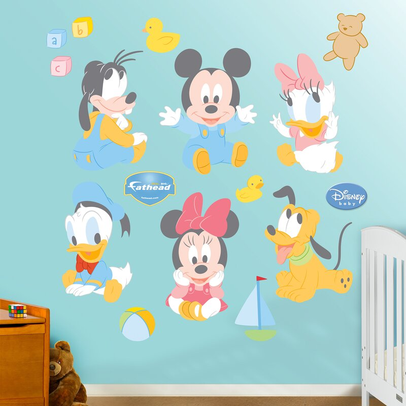 Beau Disney Baby Mickey Mouse Wall Decal