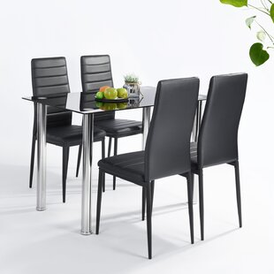 Small Dining Table Set For 4, Glass Kitchen Dining Room Table Sets You Ll Love In 2020 Wayfair
