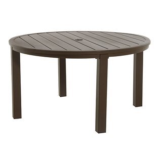 Round Slat Aluminum Dining Table by Royal Garden Great Reviews