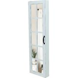 Ouida Window Over The Door Jewelry Armoire with Mirror