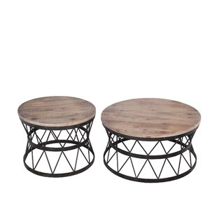 Brookland Reclaimed Wood 2 Piece Coffee Table Set