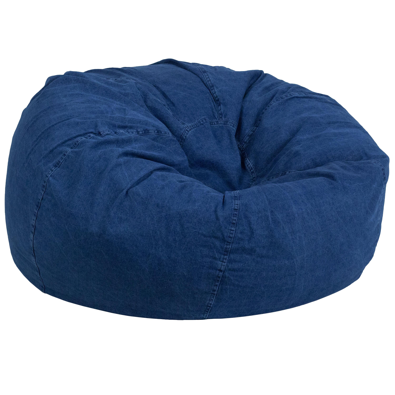 Attrayant Denim Kids Bean Bag Chair