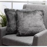 Las Animas Square Faux Fur Pillow Cover & Insert (Set of 2)