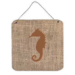 Seahorse by Denny Knight Graphic Art Plaque in Brown  sc 1 st  Wayfair & Seahorse Wall Art Youu0027ll Love | Wayfair