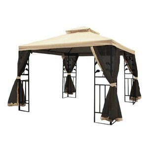 10 Ft. W x 10 Ft. D Steel Patio Gazebo by Mid-America Outdoor Supply
