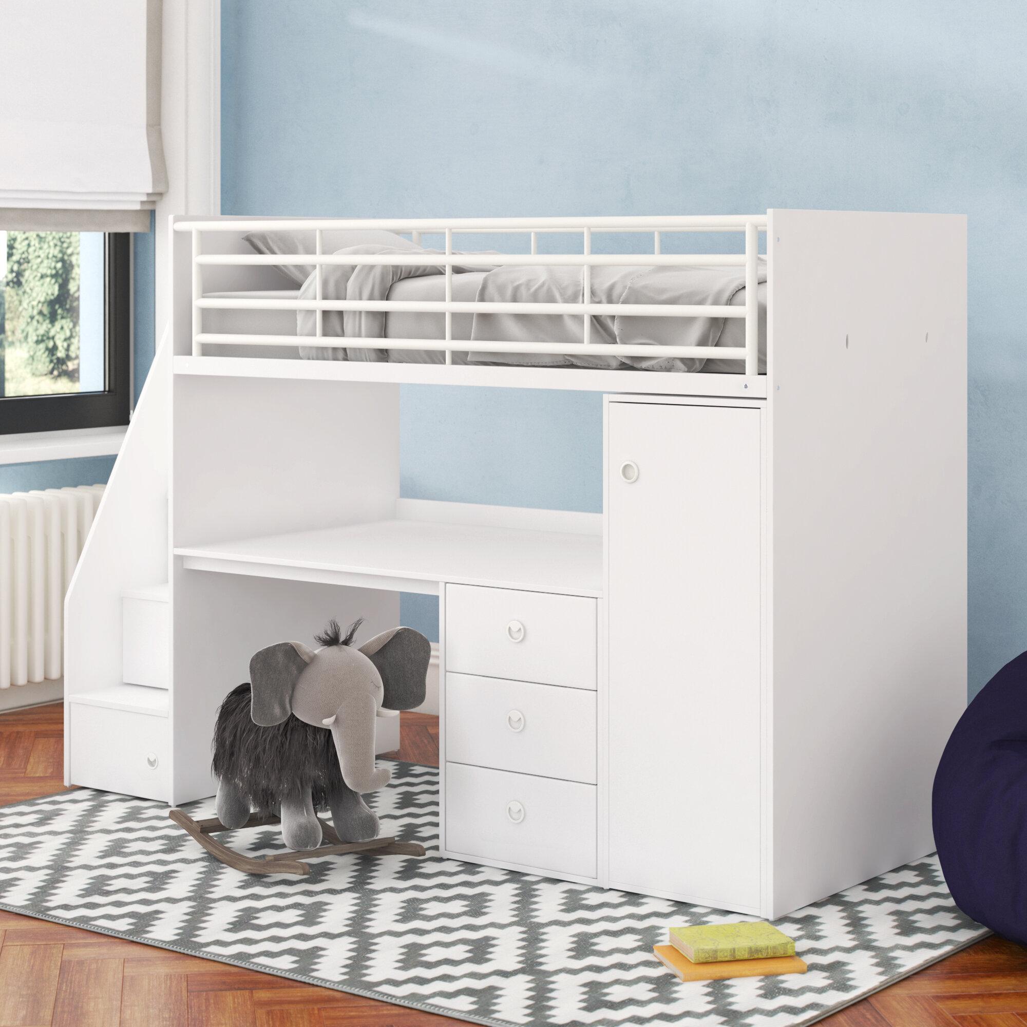 e884cbb3eb8e Sarah Single High Sleeper Bed with Workstation & Reviews | Wayfair.co.uk