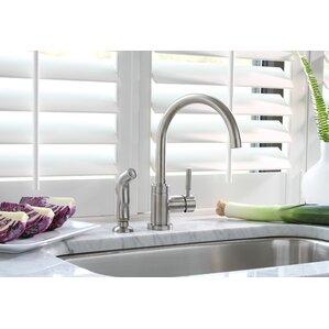 Premier Faucet Essen? Single Handle Kitchen Faucet with Side Spray Optional Deck Plate
