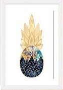 Wrought Studio 'Precious Pineapple I' Photographic Print Size: 24 H x 16 W x 1 D, Format: White Frame